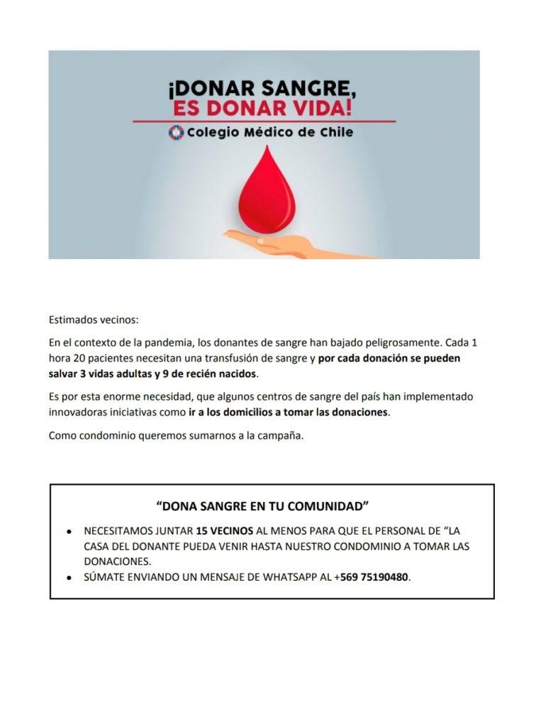 campaña donación sangre colegio medico 2020